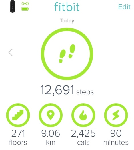 To compare: I usually walk 15 floors a day