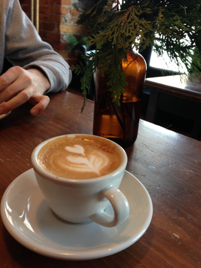 Actually good coffee from Café Maelstrøm (ft. Lox's arm)