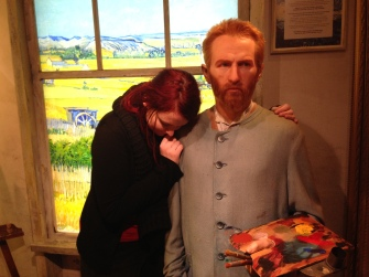 Vincent's wax figure at Madame Tussauds
